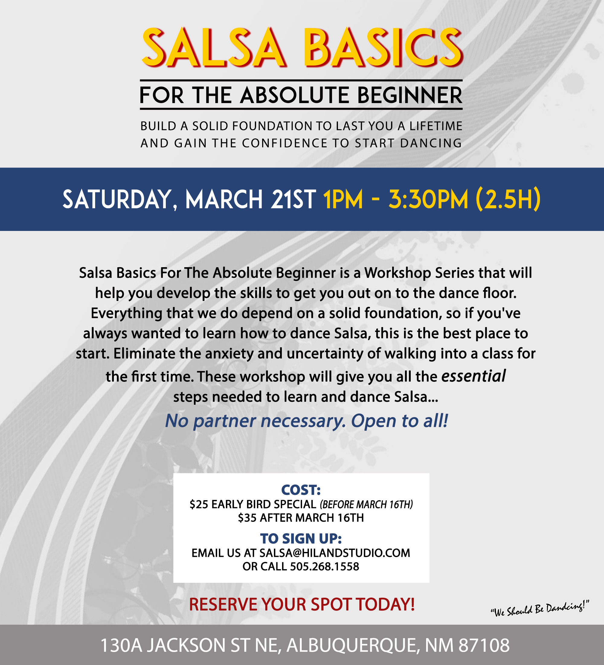 Salsa for the Absolute Beginner